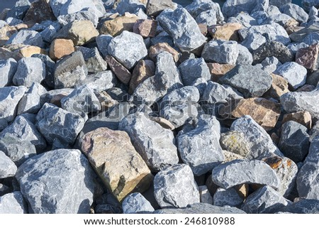 big rocks in grey and brown as solid background #246810988
