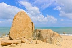 Big rocks on beach, Gulf of Thailand coast