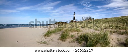Big Sable Point Lighthouse And Lake Michigan, Michigan's Lower Peninsula