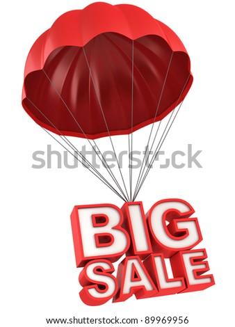 big sale 3d letters on parachute