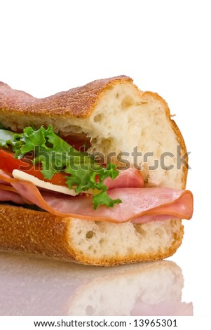 Big sandwich isolated on white