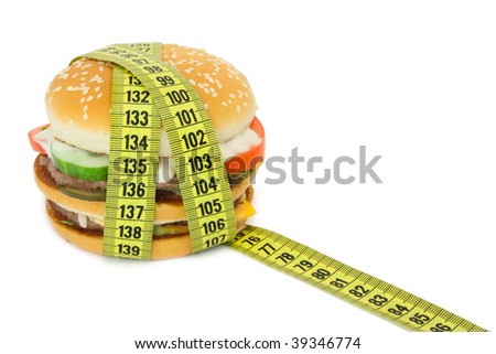 Big sandwich with tape measure