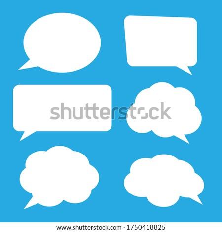 Big set hand drawn monochrome comic speech bubbles. Stickers of speech bubbles