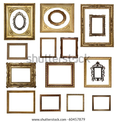 "Big Set of beautiful frames (from my ""Frames collection"") - stock photo"