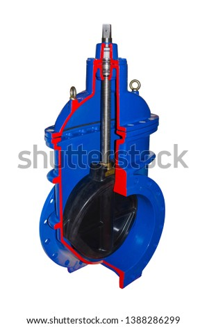 Big shut-off valve, sectional view #1388286299
