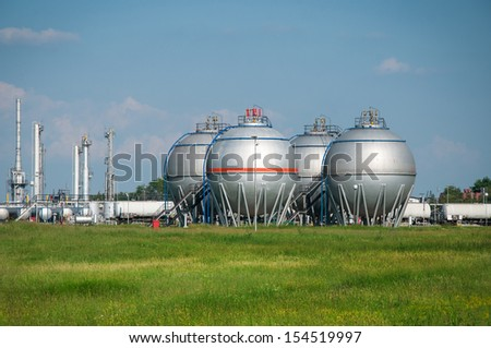Big silver Storage Tanks