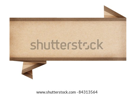 big size of paper advertising origami created by recycled paper craft isolate on white background