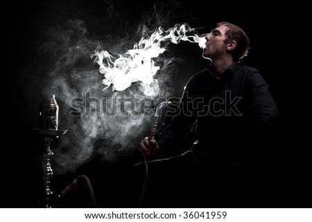 Big smoke cloud - stock photo