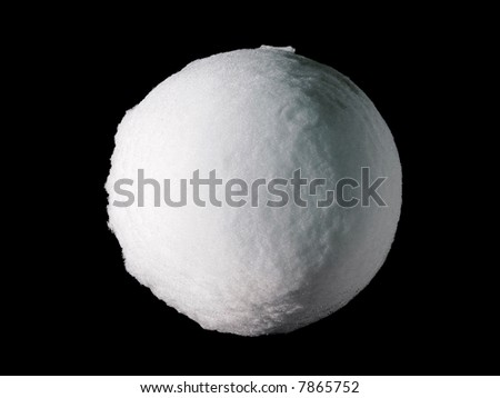 Big Snowball or Snow Globe (Isolated on totally dark background) – An icon or a symbol can be easily incorporated in many designs.