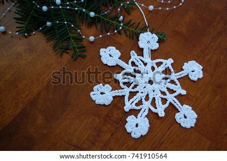 Big snowflake  #741910564