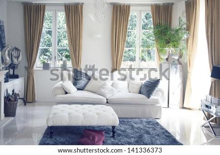 Big Sofa In Classic Interior