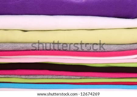 big stack of colorful textile
