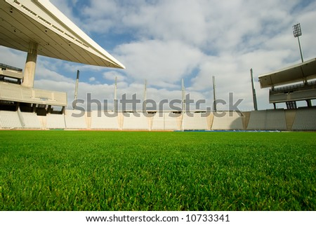 Big stadium shot from playing field
