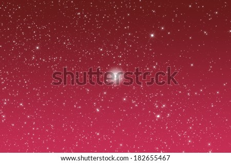 Big star-field in constellation of Swan with stars shaped spikes