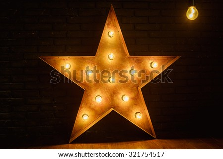 big star with lights #321754517
