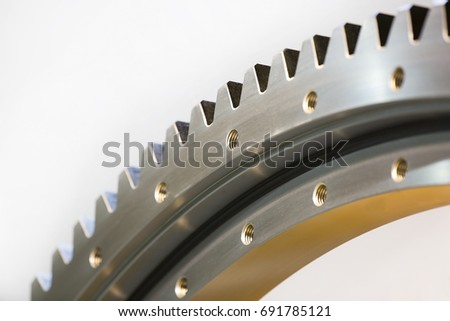 Big steel gear shot close-up photo  #691785121