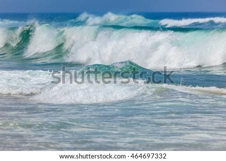 big stormy ocean waves background portugal europe ez canvas