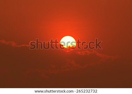 big sunset with clouds #265232732