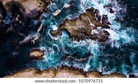 Big Sur California Aerial Footage West Coast line Stockfoto ©