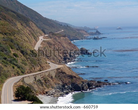 Big Sur Coastline and Pacific Coast Highway, in Northern California