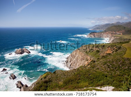 Big Sur coastline. California #718173754