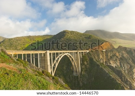 Big Sur near Bixby Bridge in California