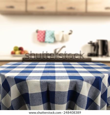 big table in kitchen interior