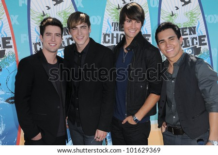 Big Time Rush  at the 2010 Teen Choice Awards - Arrivals, Gibson Amphitheater, Universal City, CA. 08-08-10