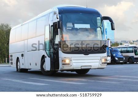 big tourist buses on parking #518759929