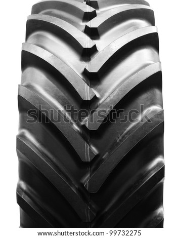 big tractor tire isolated