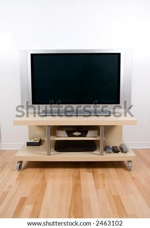 big tv lcd plasma screen in modern living room
