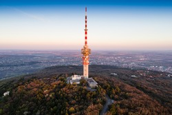 Big TV tower in forest