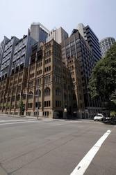 Big Urban City Building On A Street Crossing In Sydney, Australia