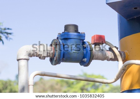 big valve for watery supply system control  it by electrical system
