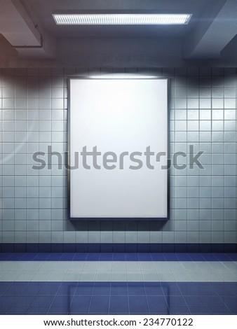 big vertical poster on metro station #234770122