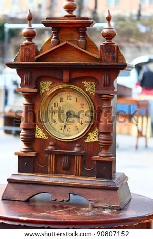 Big vintage wooden clock