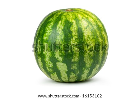 Big water melon. Isolated on white