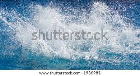 Big water splash in Pool