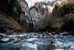 Big Waterfall in Pirineos, Spain