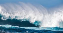 Big wave breaking on the sea