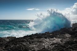 Big Wave crashing on the coast