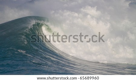 big waves in stormy sea