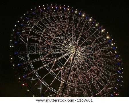 Big-wheel in the night, Tokyo Japan