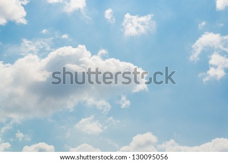 Big white cloud and bluesky
