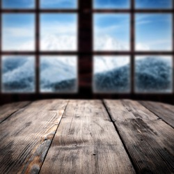 big window and big table