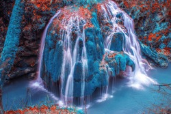 Bigar Waterfall in Avatar world - Abstract waterfall - Bigar Waterfall in the biggest avatar forest - tears in avatar forest