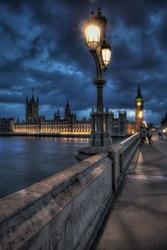 Bigben photo taken on the bridge at night
