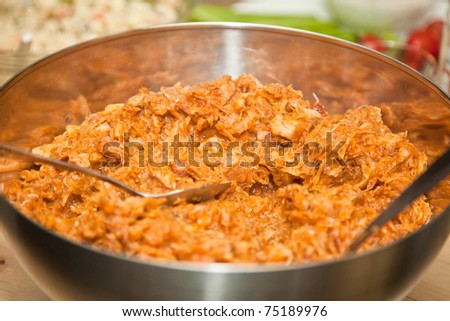 Bigos is a traditional stew typical of Polish and Lithuanian cuisines that many consider to be the Polish national dish.