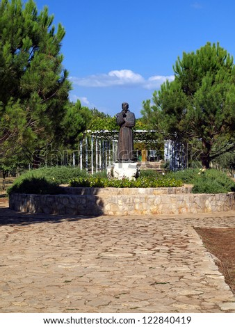 Bijakovicj near Medjugorje - a monument Franciscan Father Slavko Barbaric in Mother's Village which is a shelter for orphaned children, victims of the war in the Balkans
