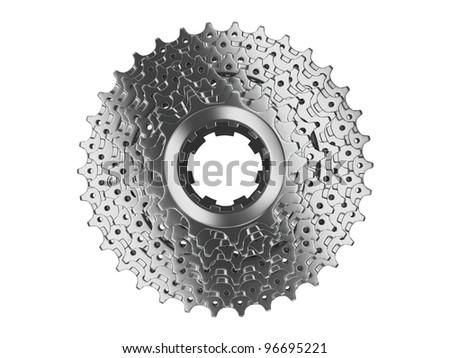 bike cassette alloy top view